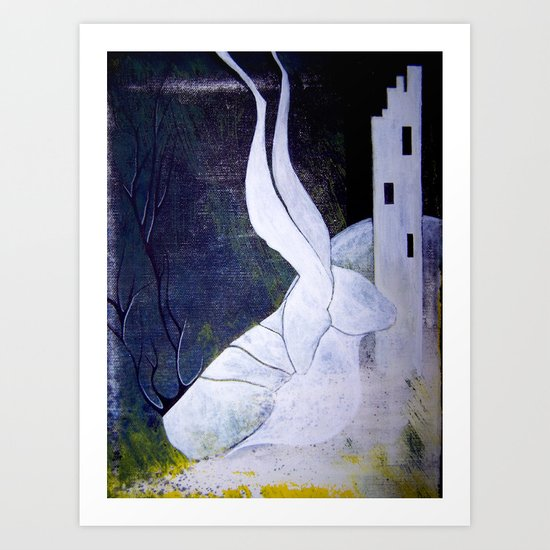 guard to the ivory tower Art Print