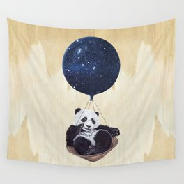 Panda in space Wall Tapestry
