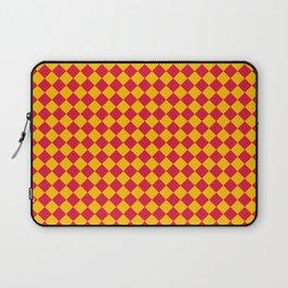Amber Orange and Crimson Red Diamonds Laptop Sleeve