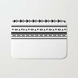 Triangles and more triangles, black Bath Mat