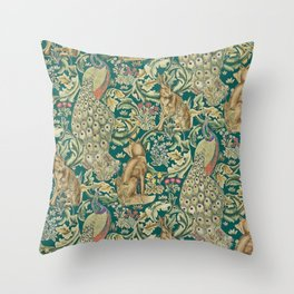 The Forest  William Morris Throw Pillow