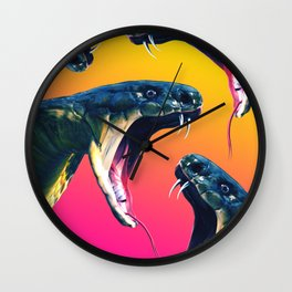 Snake attack Wall Clock