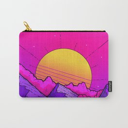 Pink sky mountains Carry-All Pouch