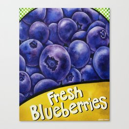 Fresh Blueberries Canvas Print