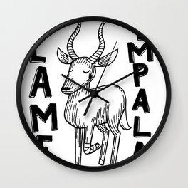 Lame Impala Wall Clock