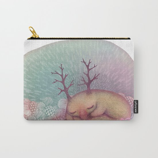 Deep Winter Dreaming (With Eyes Closed) Carry-All Pouch