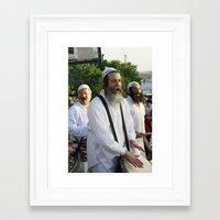 jewish Framed Art Prints featuring JEWISH STREET MUSICIAN by DidiBNK