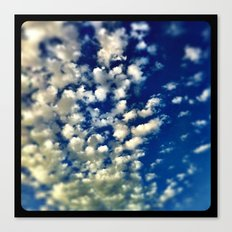 A bunch of clouds in the sky. Canvas Print