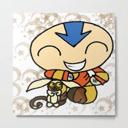 PowerPuff Aang Metal Print