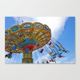 Flying Swings  Carnival Photography Canvas Print