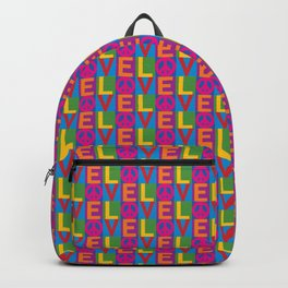Love Peace Color Blocked Backpack