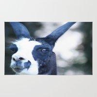 llama Area & Throw Rugs featuring Llama by Veronica Ventress