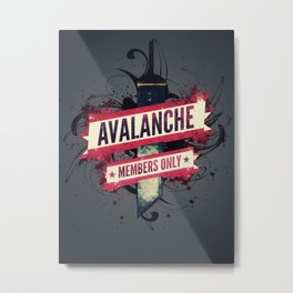 Final Fantasy VII - Avalanche Member's Only Metal Print