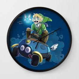 Hyrules greatest warrior...and most nervous driver. Wall Clock