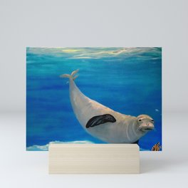 Sea Lion Swimming in Ocean Mini Art Print
