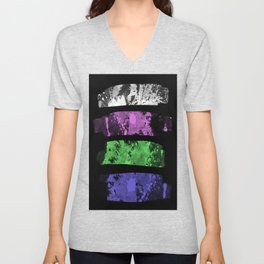 Rank Of Colour I - Abstract, textured, pastel themed artwork Unisex V-Neck