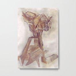 Cardboard  tower Metal Print