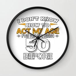 Birthday Gift 50 Years Fifty Born 1968 Wall Clock