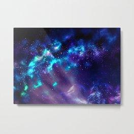 Abstract Nebula #2: Blue Metal Print