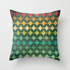 Vintage Rainbow Pattern Throw Pillow
