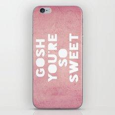 Gosh (Sweet) iPhone & iPod Skin