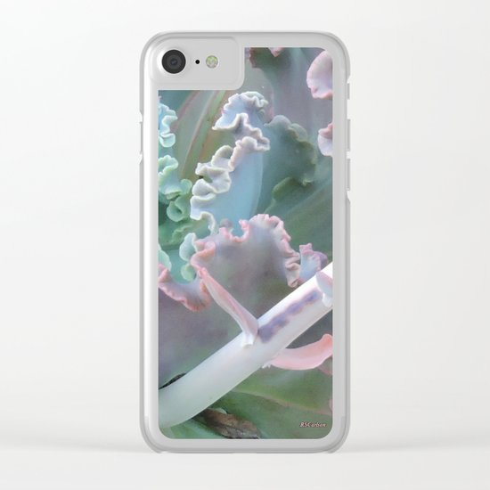 Succulent in the Sand Clear iPhone Case