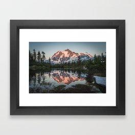 Cascade Sunset - Mt. Shuksan - Nature Photography Framed Art Print