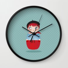 KOKESHI-PARISIAN Wall Clock
