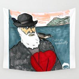 A Darwinian Heart Wall Tapestry