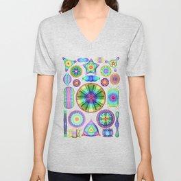 Ernst Haeckel Rainbow Diatoms Unisex V-Neck