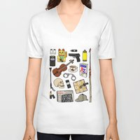 sherlock V-neck T-shirts featuring Sherlock by Shanti Draws