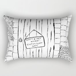 Introvert day Rectangular Pillow