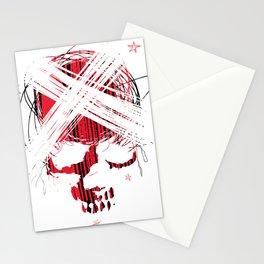 Star skull2 Stationery Cards
