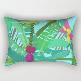 Banana Jungle in Blue Rectangular Pillow