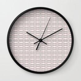 Modern Gray Lace on Pink Pattern Wall Clock