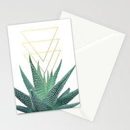Succulent geometric Stationery Cards