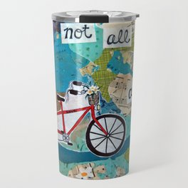 Not all who Wander are Lost - Red Tandem Bicycle Travel Mug