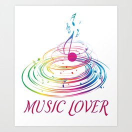 Music Themed T Shirts Colorful Graphic Art Print