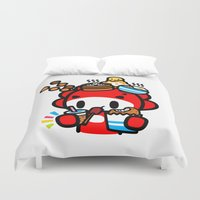 food Duvet Covers featuring food food food.... by Ziqi