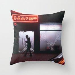 Neon lights of Soho Throw Pillow