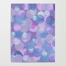 Pastel Pink and Blue Balls Poster