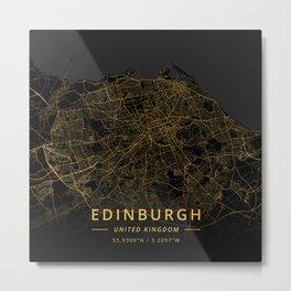Edinburgh, United Kingdom - Gold Metal Print