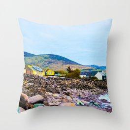 Costal Irish Village Throw Pillow
