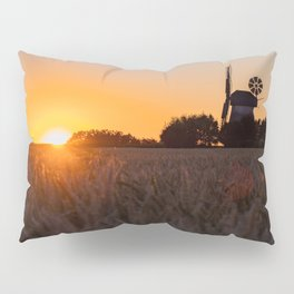North German windmill from old time in the sunset Pillow Sham