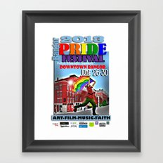 Commemorative Bangor PRIDE Festival 2013 Framed Art Print