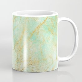 Marble effect blue and gold Coffee Mug