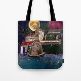 Full Moon Castle Tote Bag