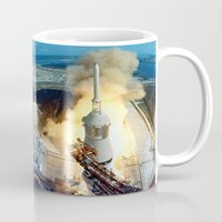 apollo Mugs featuring Apollo 11 by Planet Prints