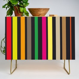 bold stripes and color Credenza