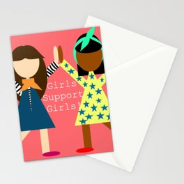 Girl Support Girls Stationery Cards